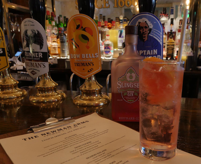 Slingsby Rhubarb Gin Newman Arms