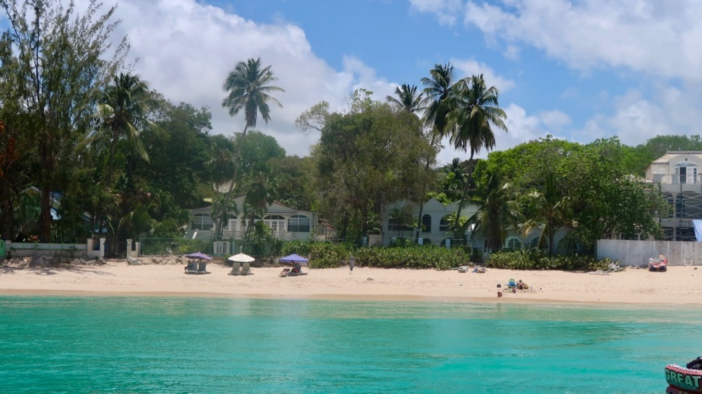 View from Jammin' catamaran cruise Barbados
