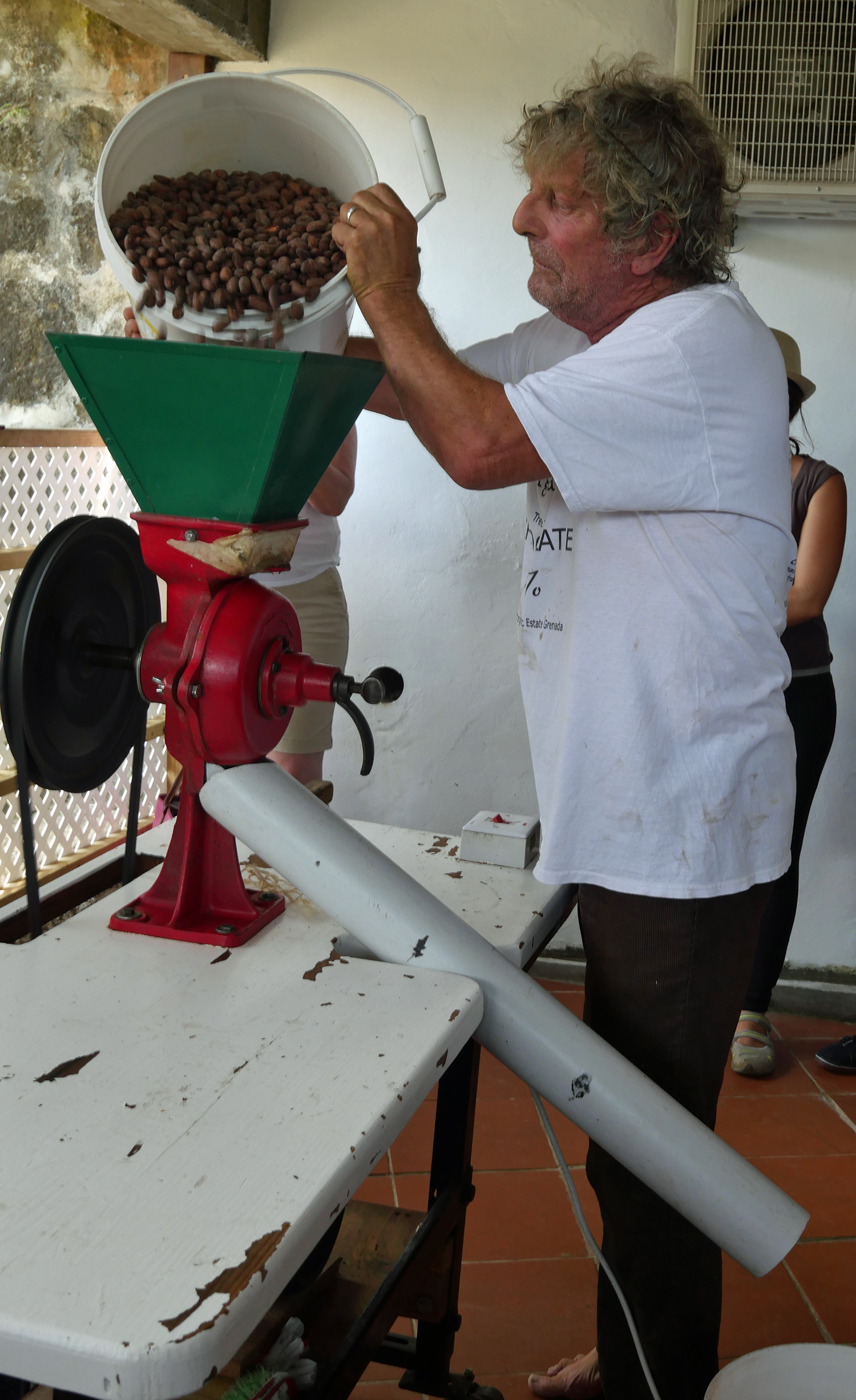 Winnowing - Crayfish Bay Grenada - Grenada Chocolate Festival Tour