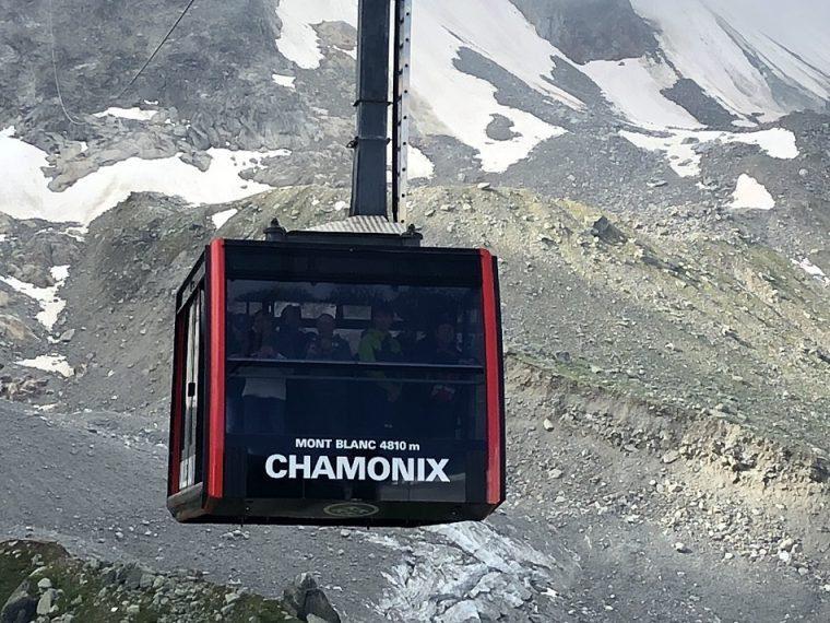 Aiguille du Midi cable car Chamonix France - summer activities Chamonix