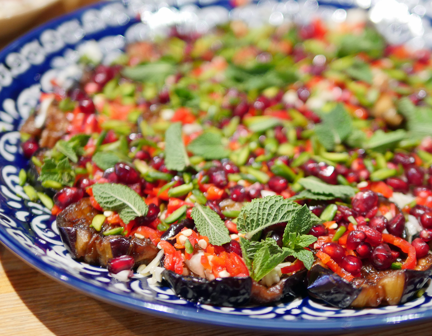 Aubergine and Pomegranate Salad - Yalla Yalla