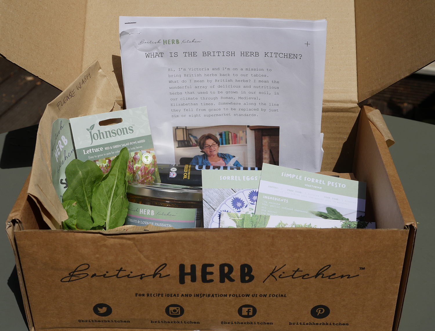 British Herb Garden Box