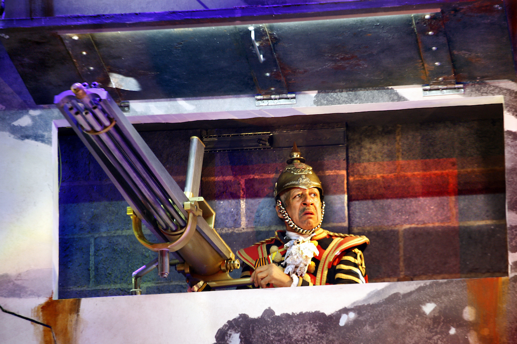 Derek Griffiths as the Guard in Exit the King, image by Simon Annand