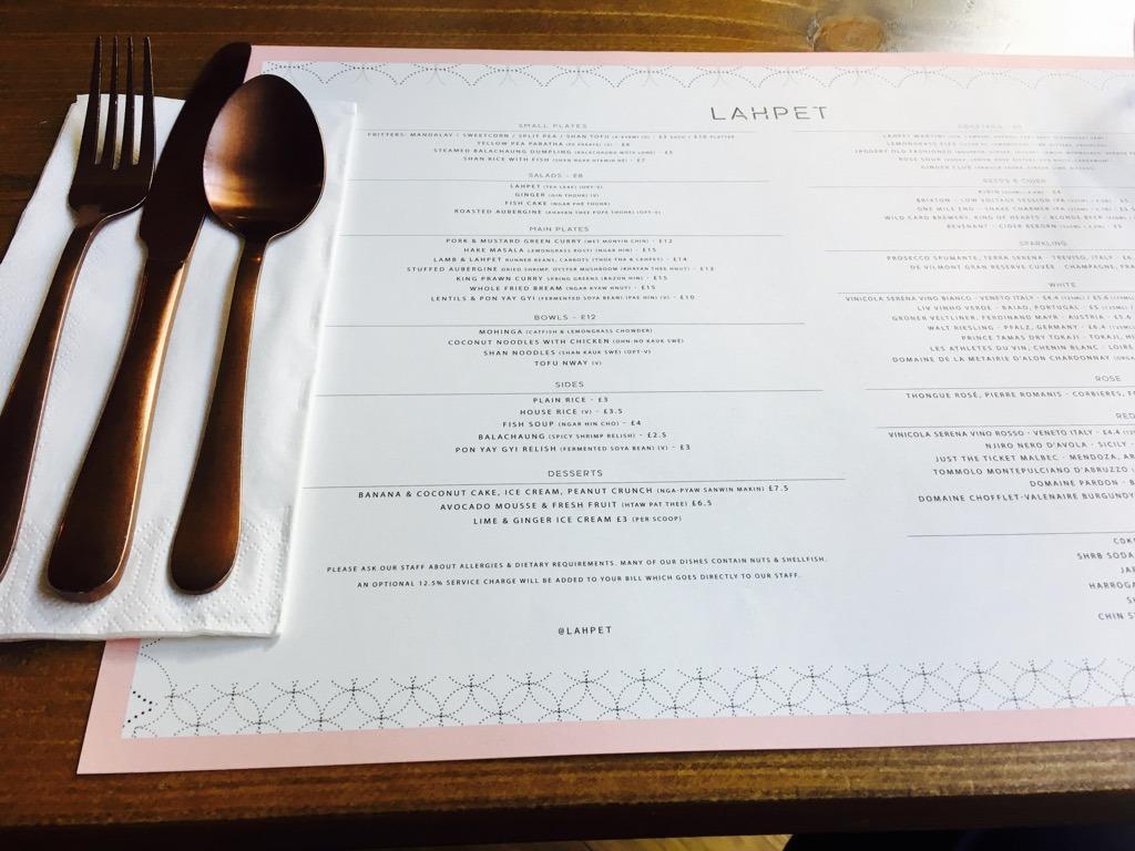 Lahpet cutlery