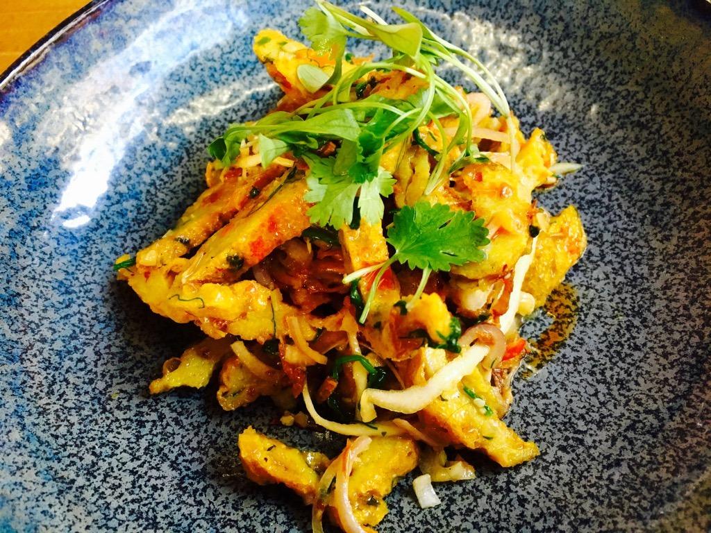 Lahpet fish cake salad - Burmese Restaurant London