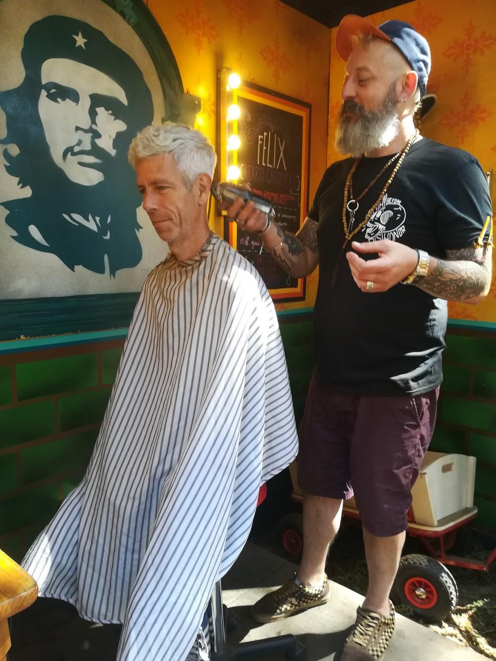 Latitude 2018 - Haircut by Felix of the Saboteurs