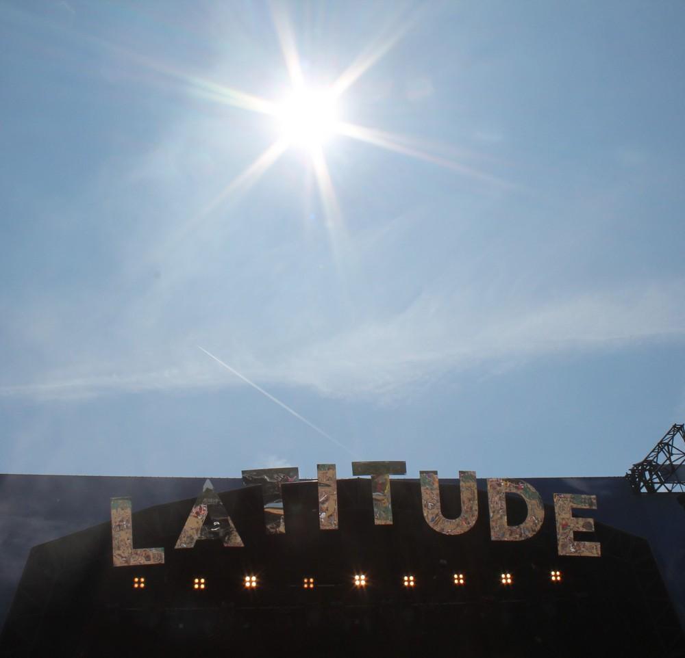 Latitude 2018 - sunshine over the Obelisk stage