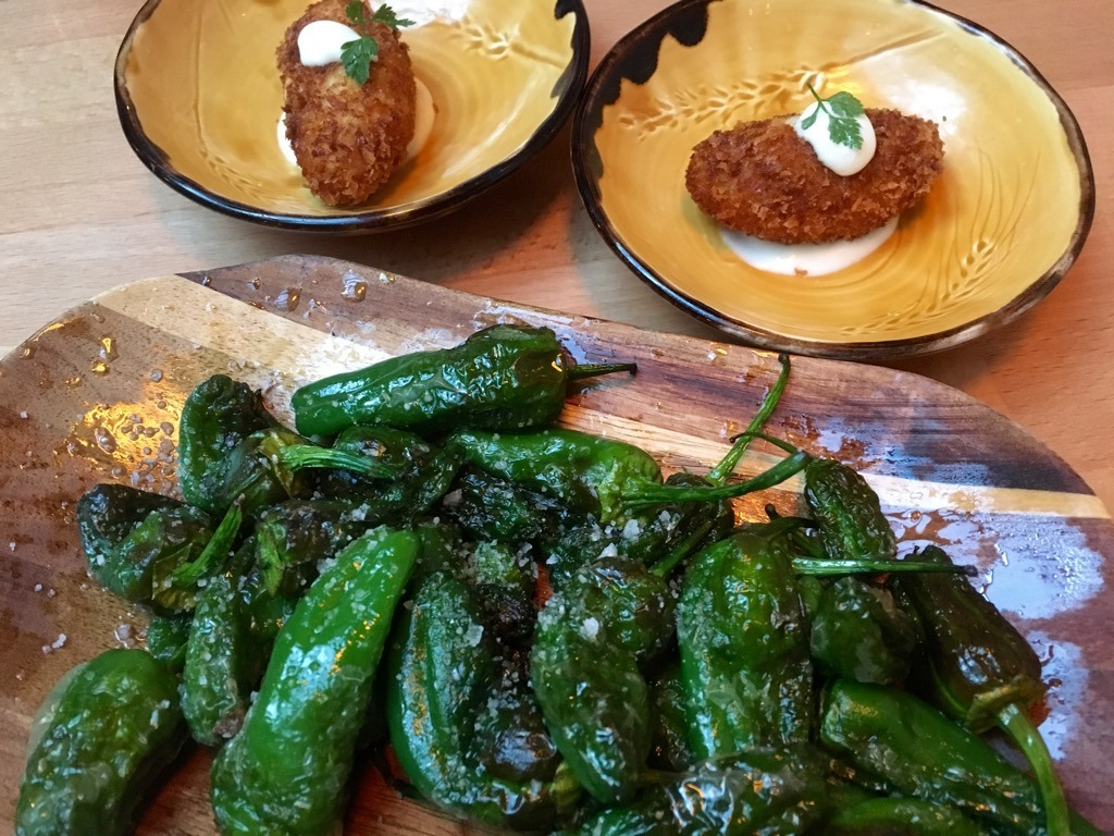 Tonica by the Distillery padron peppers croquettas