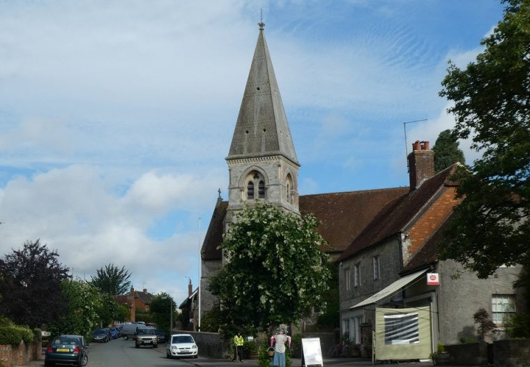 Village church Hindon Wiltshire