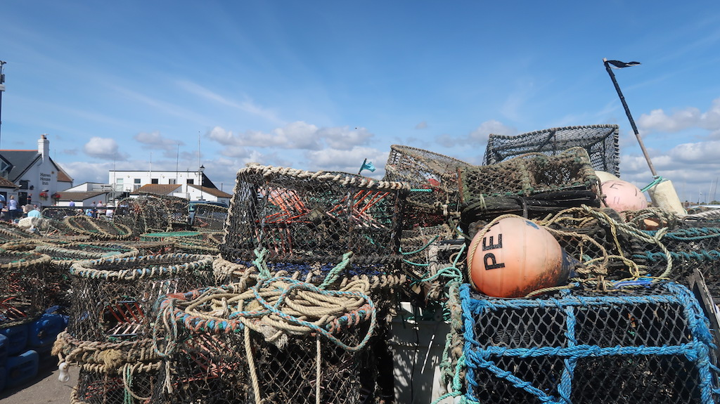 Fishing tackle at Mudeford Quay