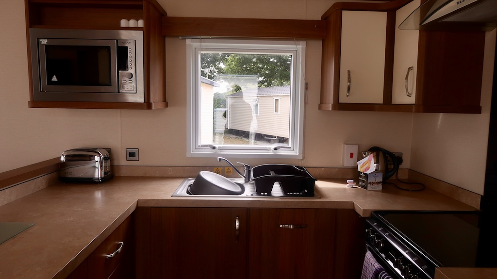 Holburne caravan kitchen area
