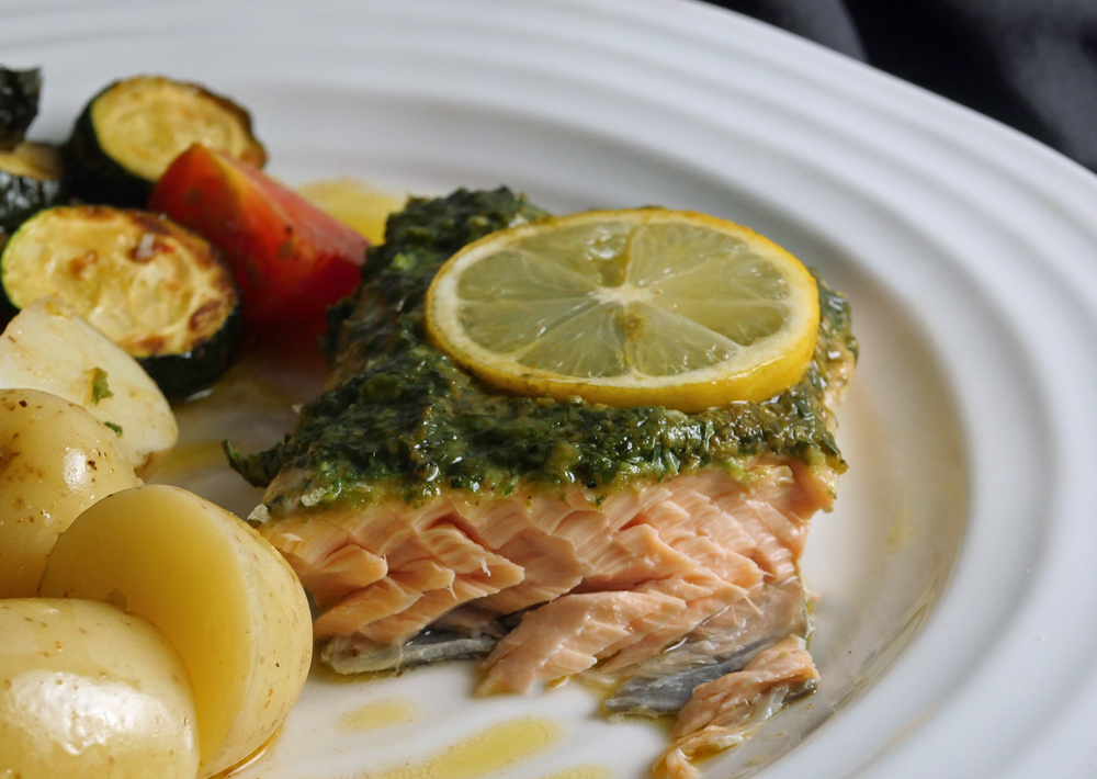 Salmon with Pesto 1