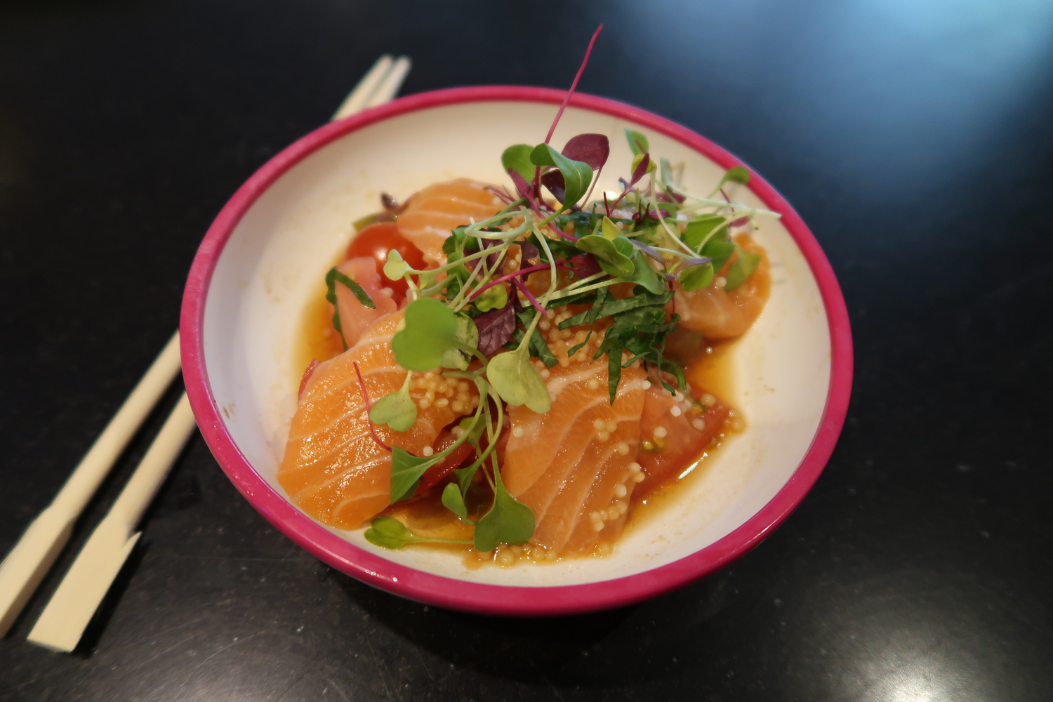 YO! Salmon and Orange Ponzu Salad 2