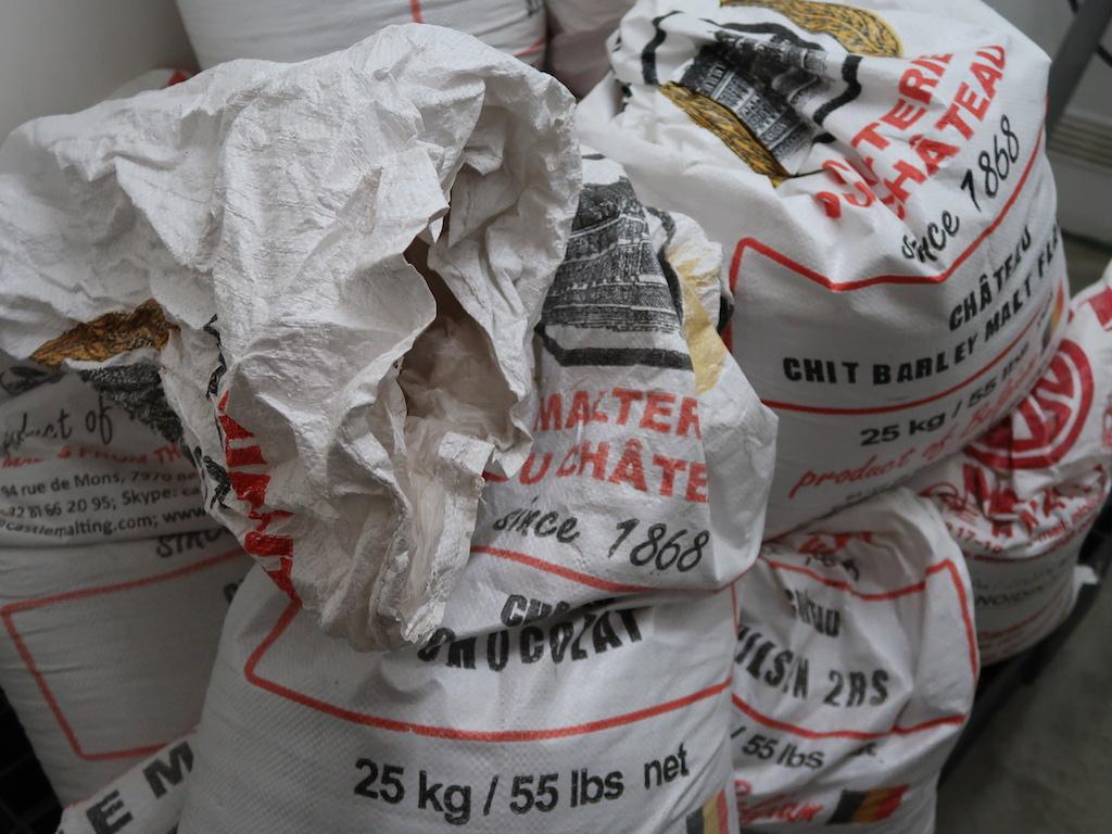 Liège Brewery C grain bags