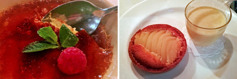 Cafe du Marche Charterhouse Square desserts