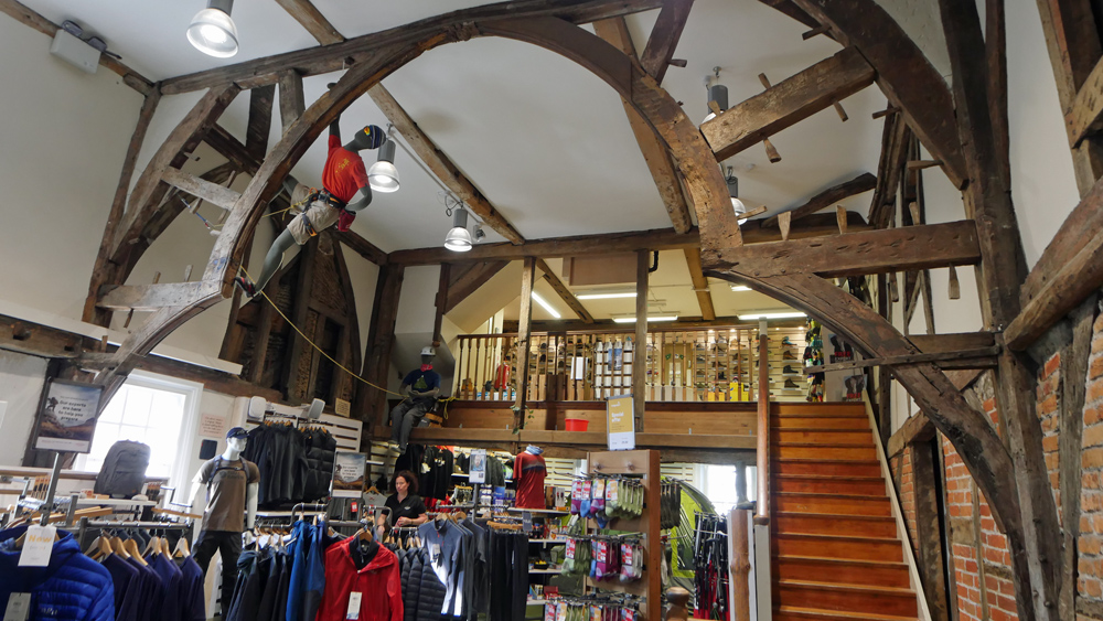 Cotswold Clothing Display and Medieval interior