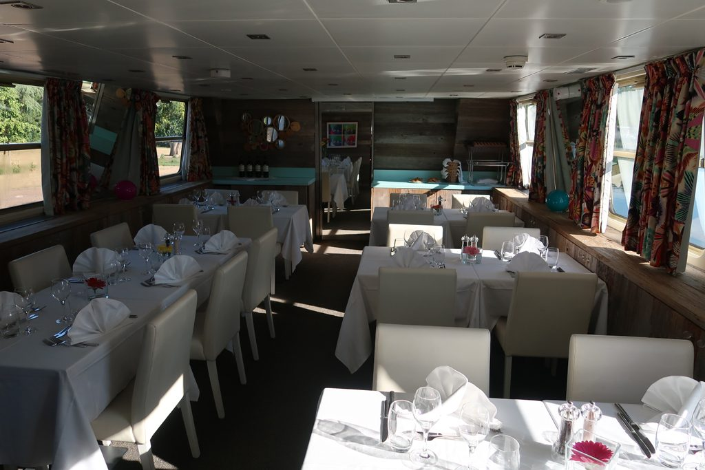 Great Rail Journeys Burgundy River Barge Cruise Dining Area