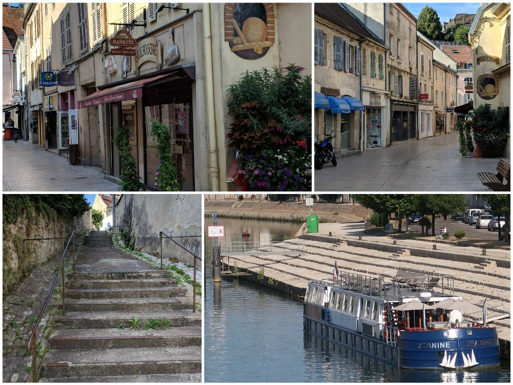 Great Rail Journeys Burgundy River Barge Cruise Gray Town Shops