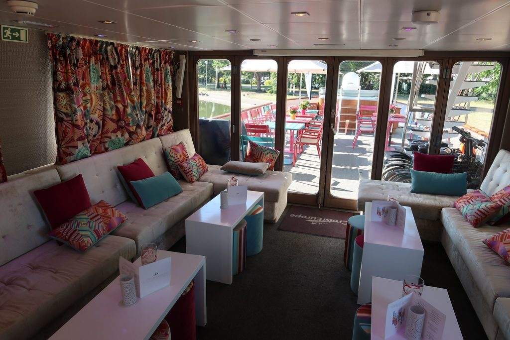 Great Rail Journeys Burgundy River Barge Cruise Lounge Area