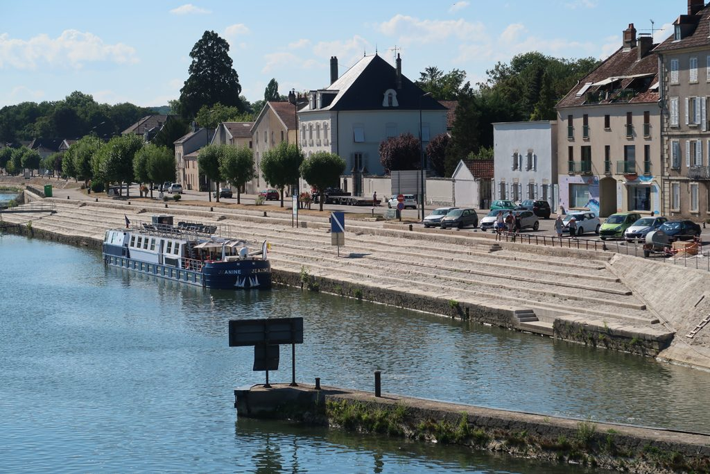 Great Rail Journeys Burgundy River Barge Cruise Moored at Gray