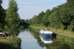 Great Rail Journeys Burgundy River Barge Cruise Moored at Savoyeux