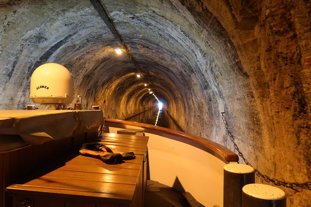 Great Rail Journeys Burgundy River Barge Cruise Tunnel at Ovanches Inside
