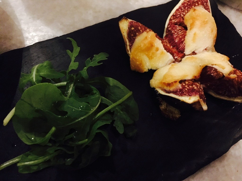Patron fig and goat's cheese