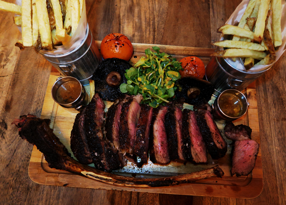 The Herd Pangbourne - cooked Tomahawk Steak