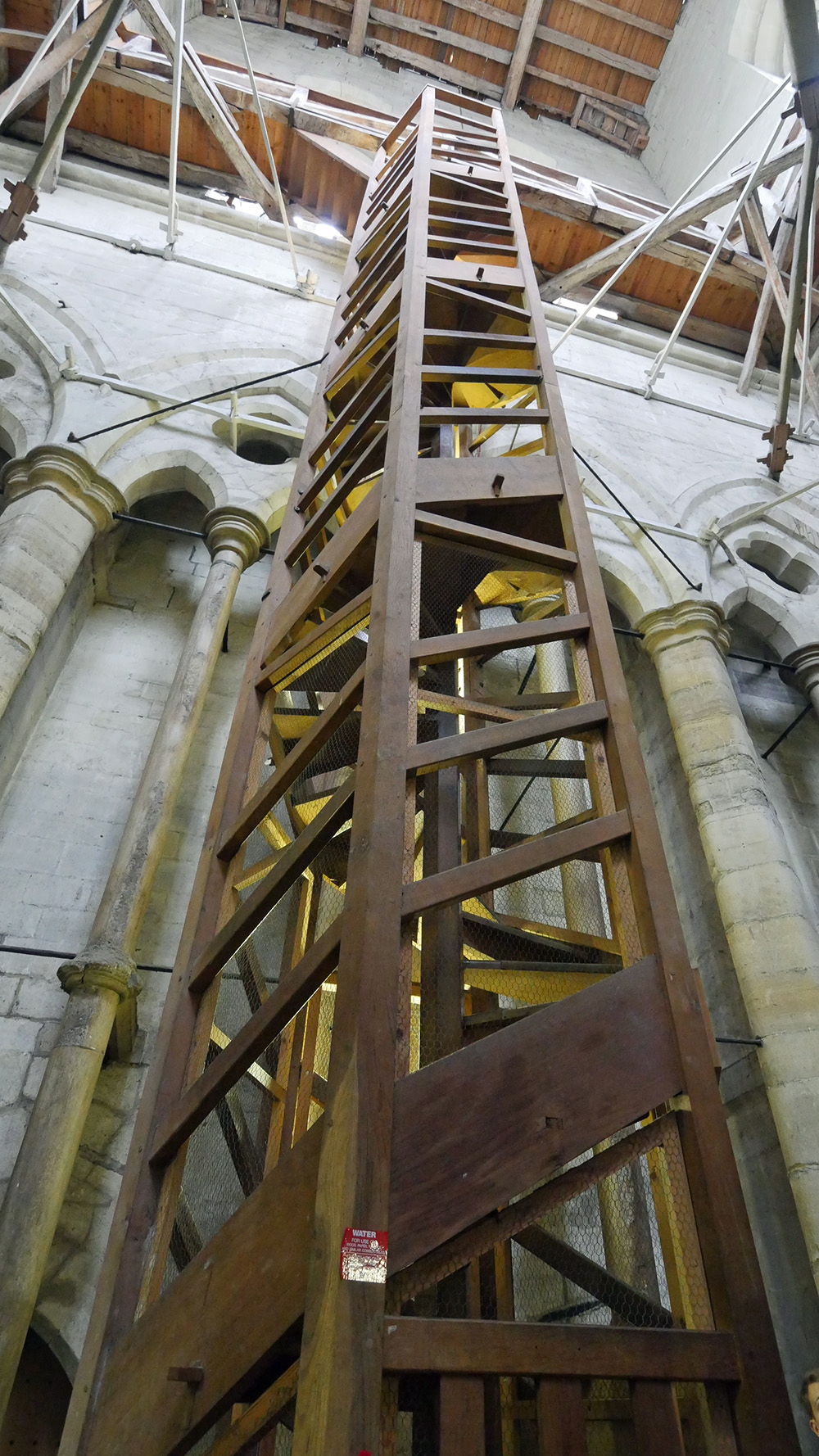 The Way up into the Spire - Salisbury Cathedral