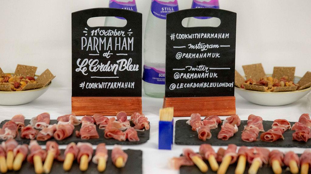 Parma Ham canapes