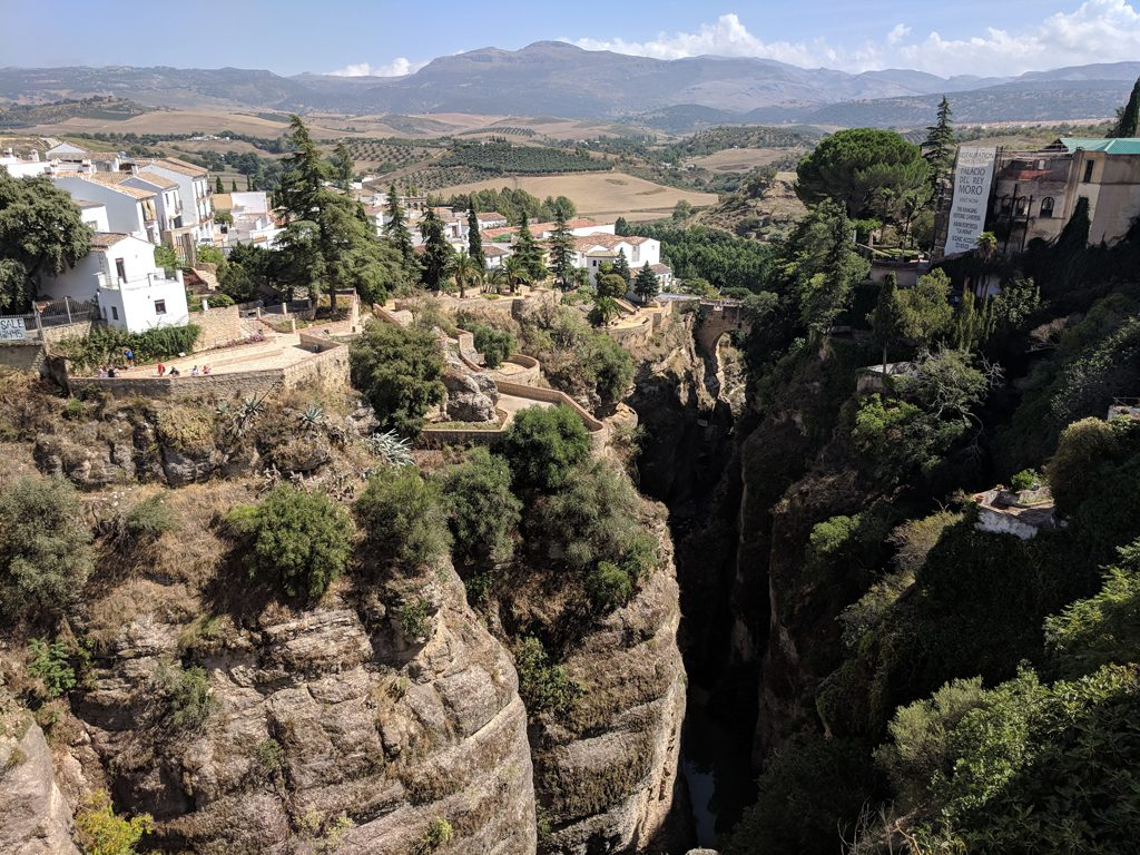 Costa Del Sol Ronda View From The New Bridge