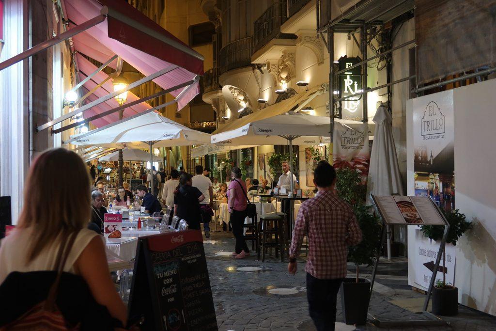 Costa del Sol Malaga Central Pedestian Zone and Restaurants
