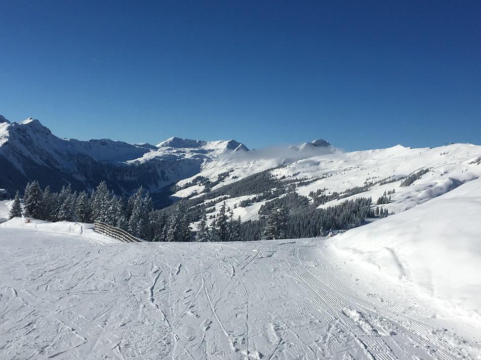 Empty piste Saalbach Austria