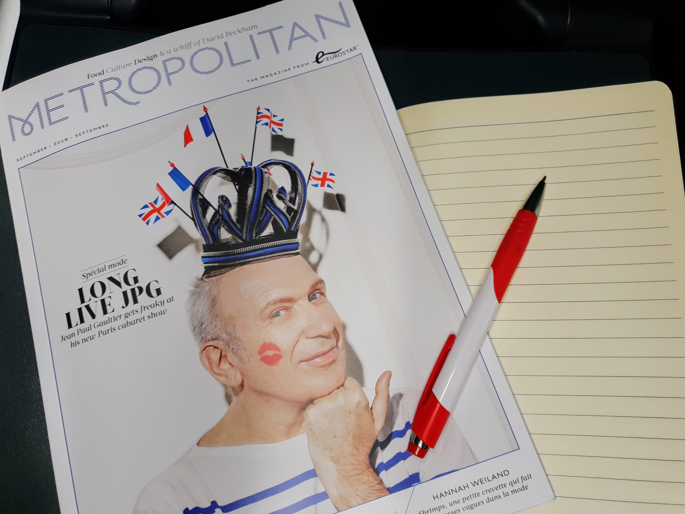 Eurostar magazine - travelling from London to Rotterdam by Eurostar