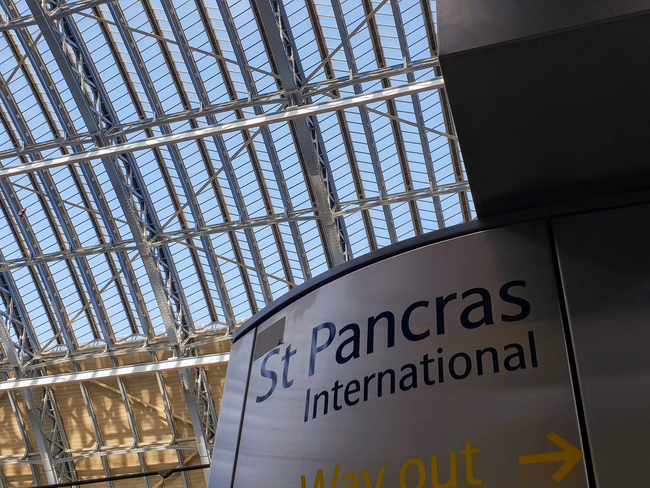 Eurostar terminal at St Pancras London