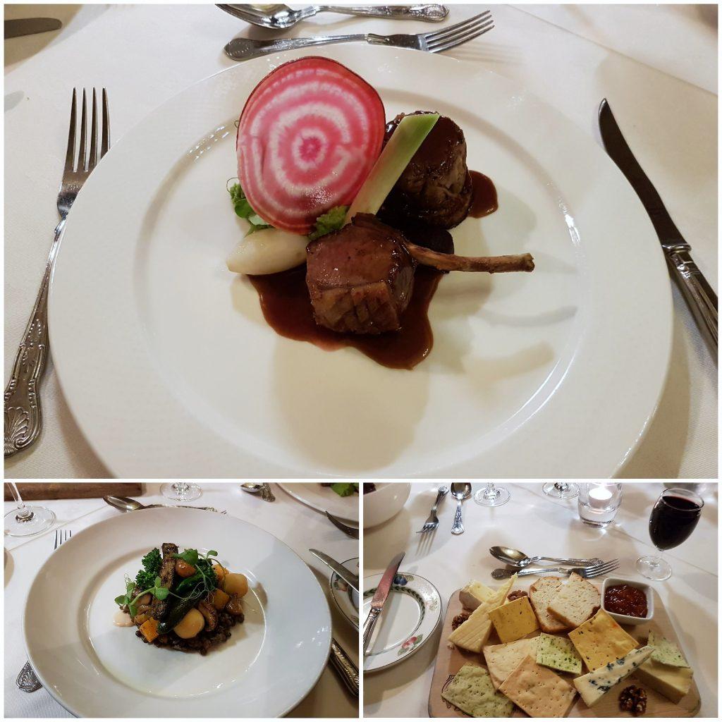 Gliffaes country house hotel Dinner