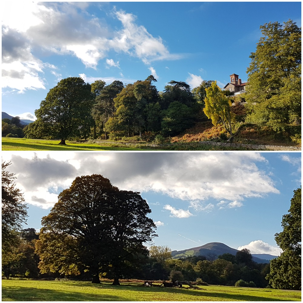 Gliffaes country house hotel Views of the Usk Valley