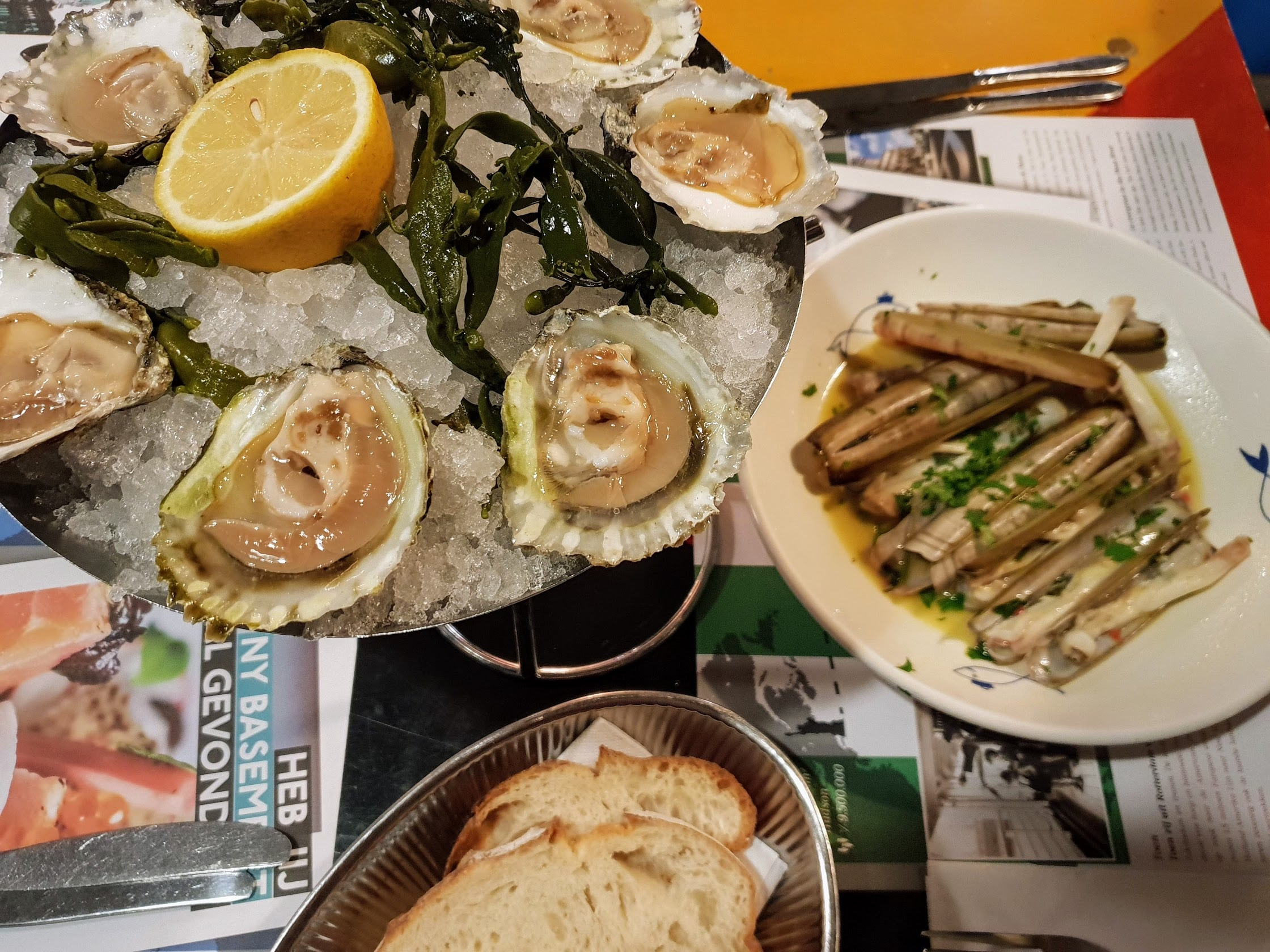 Hotel New York, Rotterdam, Oysters and razor clams-min