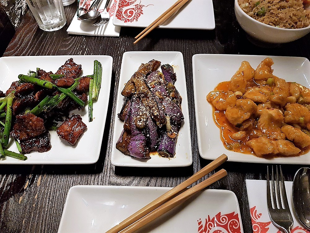 P.F.Chang's - Mongolian Beef, Chili Aubergine, Chang's Chicken