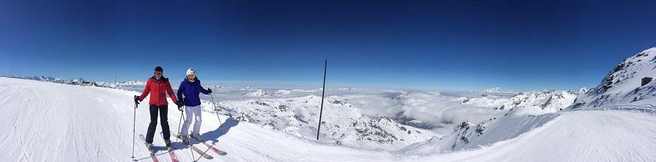 Panorama Les Trois Vallées France - top ski resorts in Europe