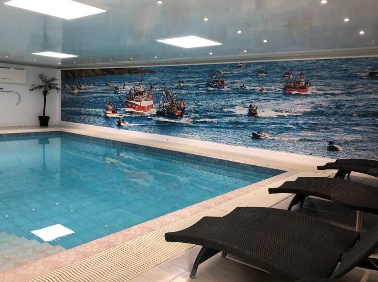 Saltwater pool Soar Mill Cove hotel South Devon