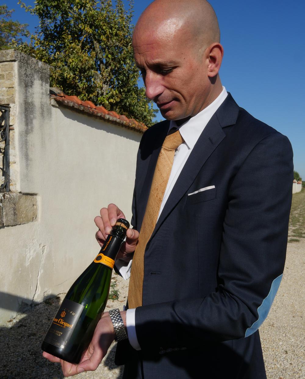 Tasting Veuve Clicquot Champagne