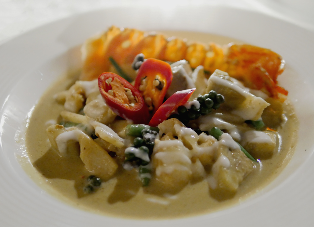 Thai Square Restaurant - Green Lobster curry