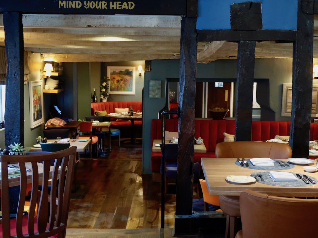 The Sun Inn restaurant dining room - Dedham, Essex