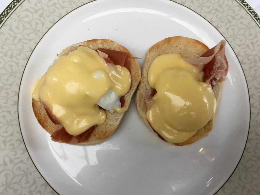 Tylney Hall Eggs Benedict