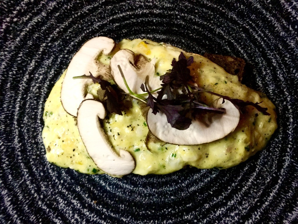 Tylney Hall Truffled scrambled Duck Egg