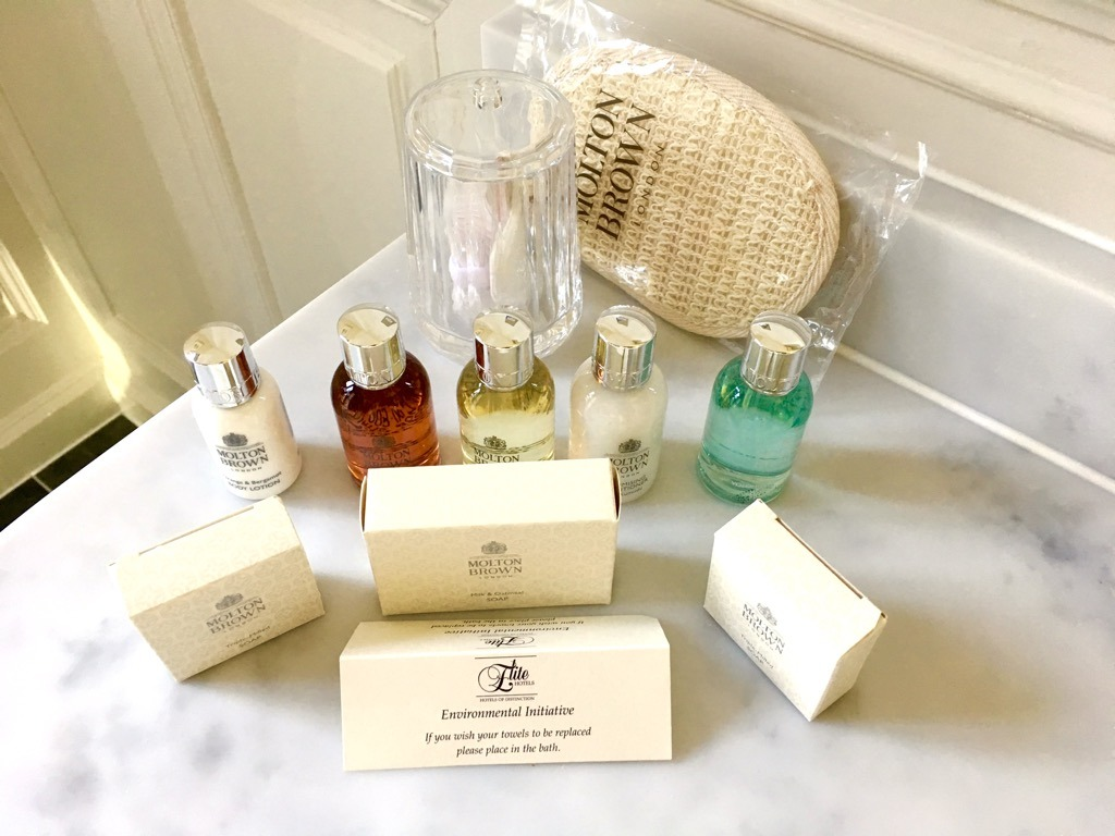 Tylney Hall hotel bathroom toiletries