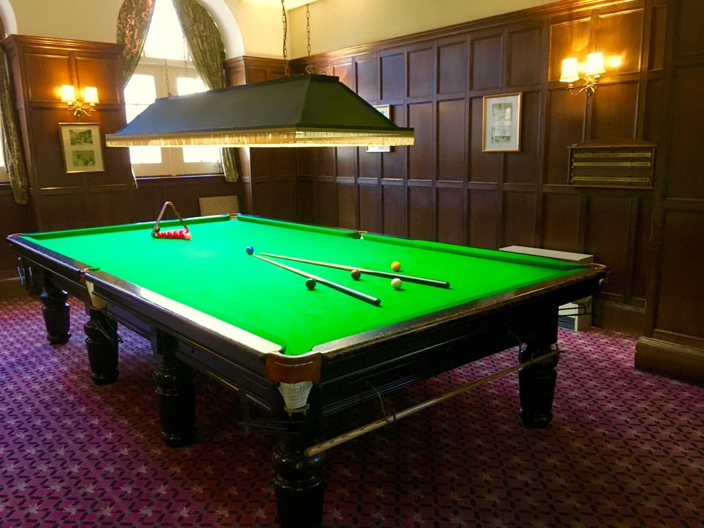 Tylney Hall snooker room