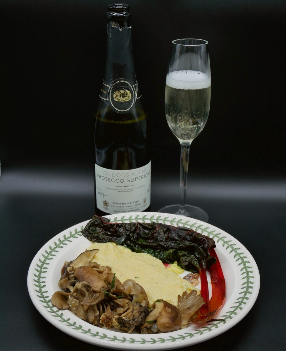 Berry Bros - Prosecco with polenta and wild mushrooms - Christmas Wine pairing