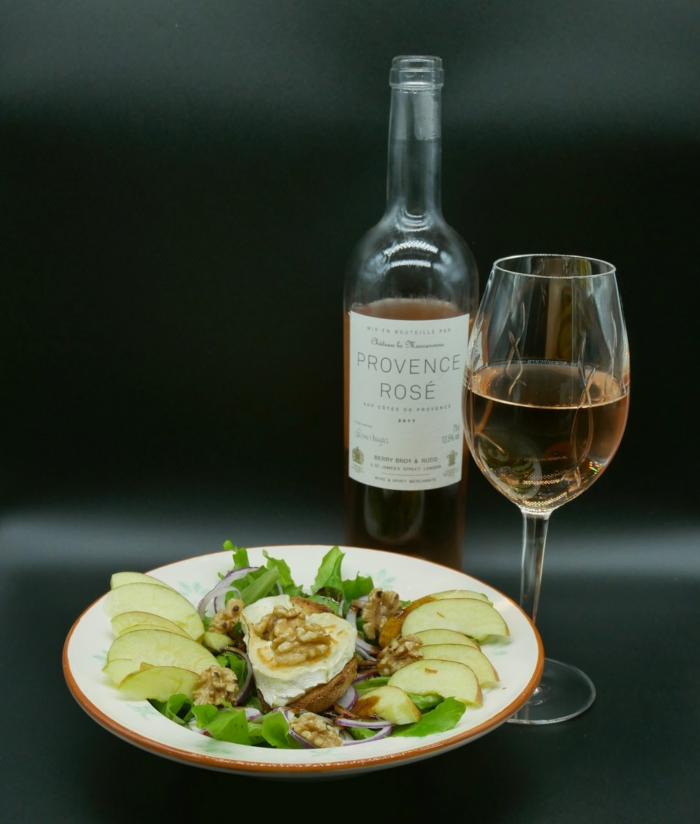 Berry Bros - Provence Rose with Goat's Cheese and walnut salad - christmas wine pairing